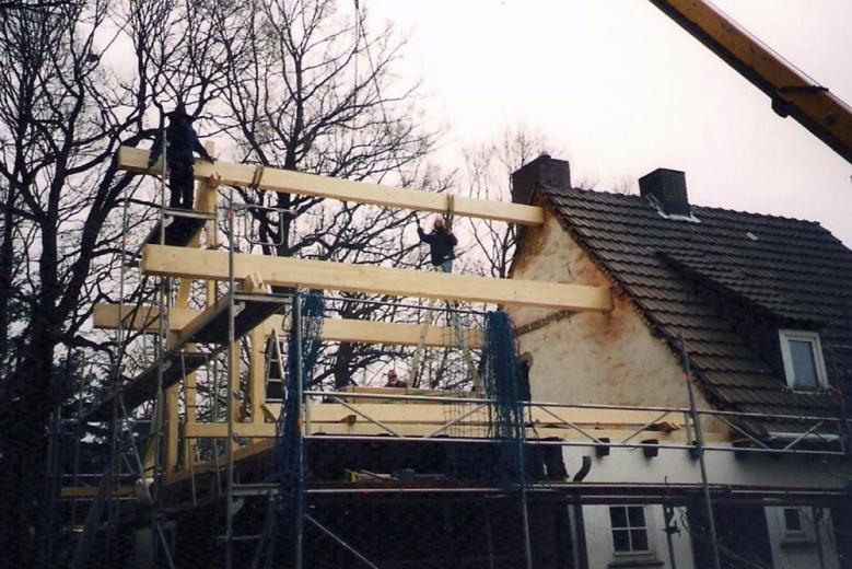 b Aufbau einer Dachkonstruktion 002