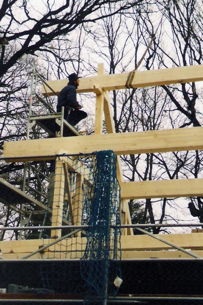 b Aufbau einer Dachkonstruktion 003